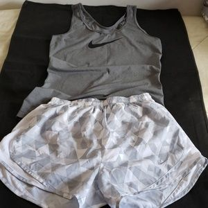Nike shorts and nike top size S. Great condition